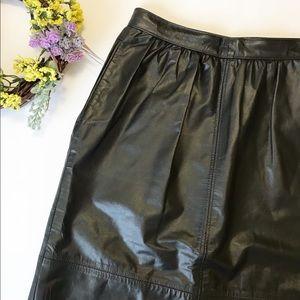 Vintage Leather Skirt | Boho Western